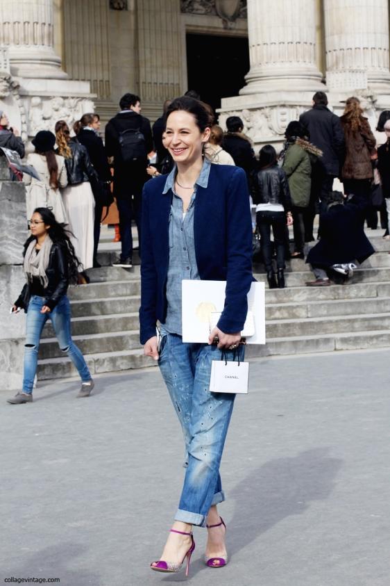 Chanel-Street_Style-Paris_Fashion_week-Double_Denim-Boyfriend_Jeans-1
